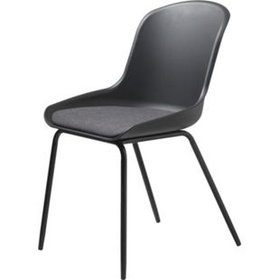 2x Esszimmerstuhl Tom schwarz Stuhl Set Stühle Sessel Küchenstuhl Polsterstuhl - Bild 1