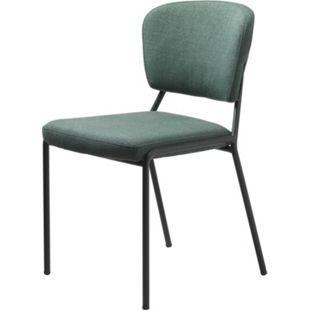 2x Esszimmerstuhl Brass grün Stuhl Set Stühle Stuhl Küchenstuhl Polsterstuhl - Bild 1