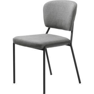 2x Esszimmerstuhl Brass hellgrau Stuhl Set Stühle Stuhl Küchenstuhl Polsterstuhl - Bild 1