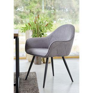 2x Esszimmerstuhl Move grau Stuhl Set Stühle Sessel Küchenstuhl Polsterstuhl - Bild 1