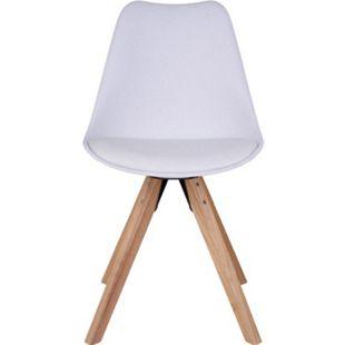 2x Kunstleder Esszimmerstuhl Benno weiss Stuhl Set Stühle Stuhl Küchenstuhl - Bild 1