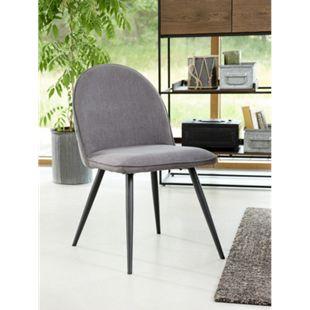 2x Esszimmerstuhl Move grau Stuhl Set Stühle Stuhl Küchenstuhl Polsterstuhl - Bild 1