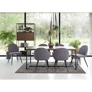 Esstisch Rice Esche Dekor Metall Küchentisch Wohnzimmertisch Holztisch Tisch - Bild 1