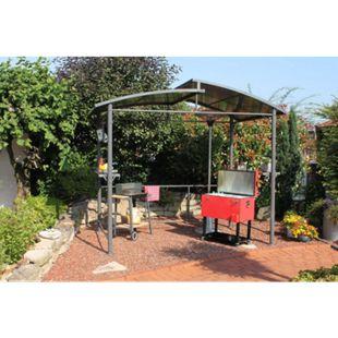 Leco XXL Profi Grillpavillon Pavillon Garten Terrasse Grill Überdachung 275cm - Bild 1