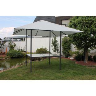 Leco Diningpavillon 3x3m Pavillon + Esstisch Festzelt Gartenzelt Gartentisch - Bild 1