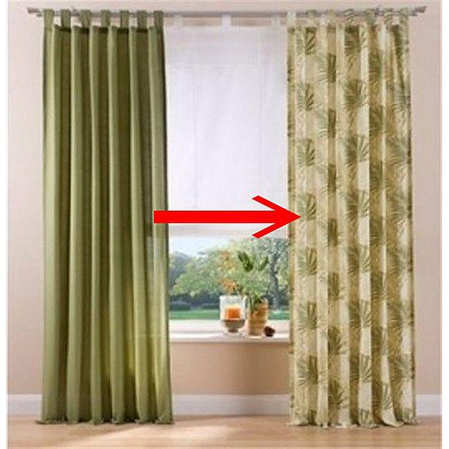 2x Fertigdeko Vorhang + Schlaufen - Bild 1