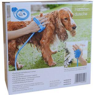 Haustierdusche Hundedusche Hunde Duschkopf Fellbürste Tierdusche Fellpflege - Bild 1