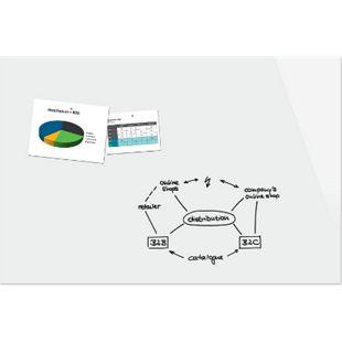 Be!Board B1600 Glas Magnettafel 180x120 Whiteboard  Magnetboard Tafel Memoboard - Bild 1