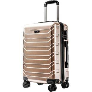 Carryone TSA Handgepäck gold Koffer Reisekoffer Trolley Hartschale Boardcase - Bild 1