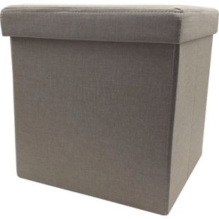 Faltbarer Polster Sitzhocker Aufbewahrung  Sitzwürfel Hocker Faltbar bis 110kg - Bild 1