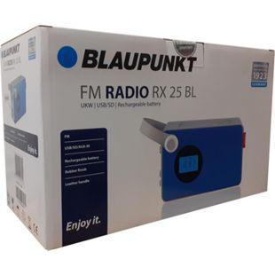 Blaupunkt Akku Radio RX 25 blau UKW MP3 SD AUX tragbar Lautsprecher Küchenradio - Bild 1
