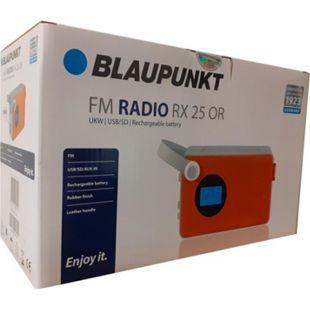 Blaupunkt Akku Radio RX25 orange UKW MP3 SD AUX tragbar Lautsprecher Küchenradio - Bild 1