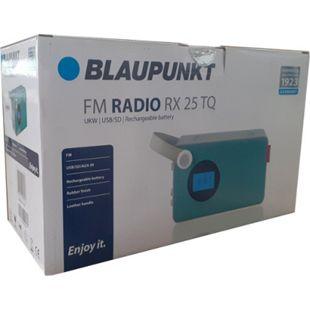 Blaupunkt Akku Radio RX25 türkis UKW MP3 SD AUX tragbar Lautsprecher Küchenradio - Bild 1
