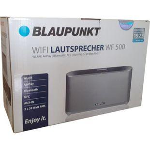 Blaupunkt WF 500 WiFi Bluetooth Lautsprecher silber WLAN NFC RMS Soundbox Box - Bild 1