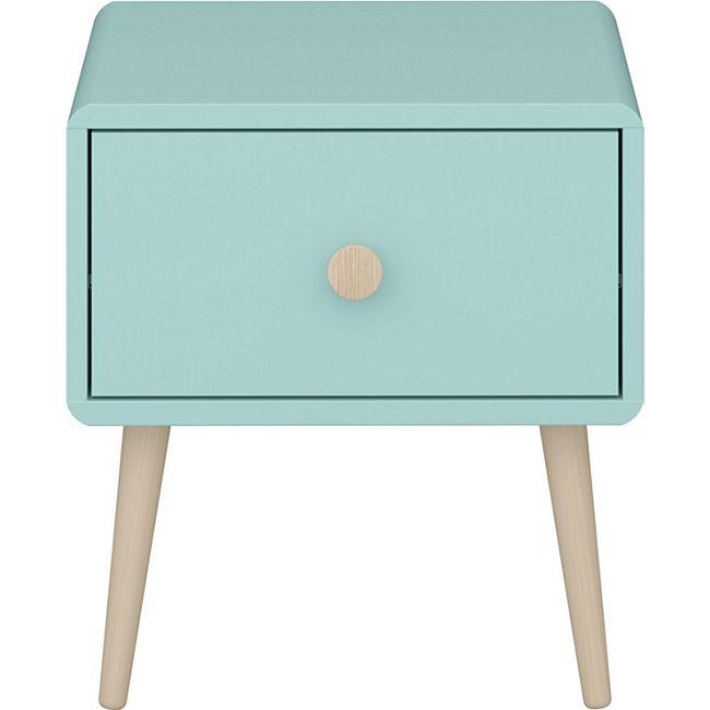 Gry Nachttisch 1 Schublade mint Holz Nachtschrank Konsole Schlafzimmer Möbel - Bild 1