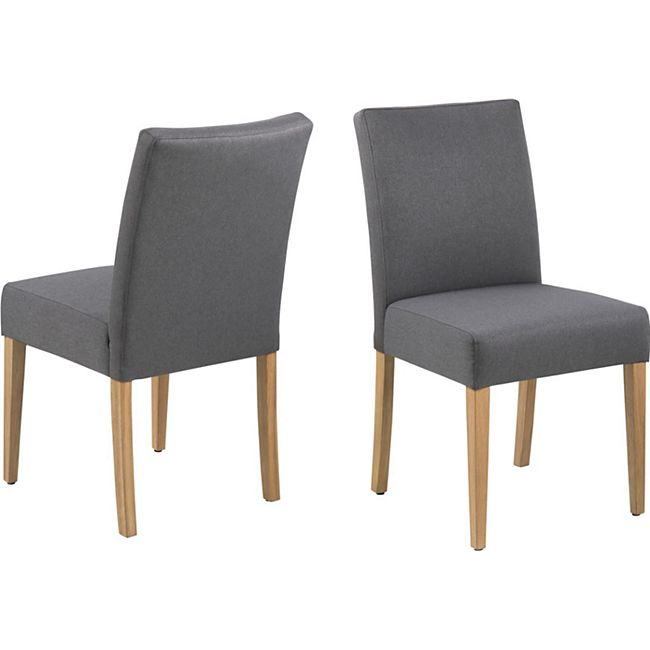 2x Edora Esszimmerstuhl grau Stuhl Set Esszimmer Stühle Küchenstuhl Stuhlset - Bild 1