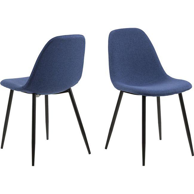 4x Willy Esszimmerstuhl blau Stuhl Set Esszimmer Stühle Küchenstuhl Küche - Bild 1
