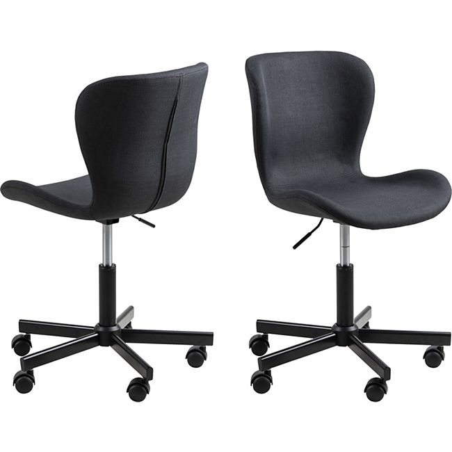 Bali Bürostuhl grau Computerstuhl Chefsessel Schreibtischstuhl Drehstuhl Sessel - Bild 1