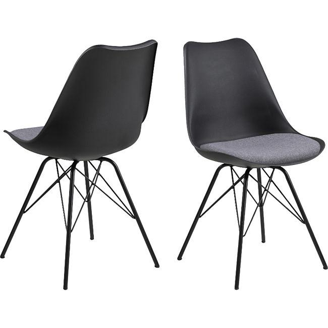 2x Erin Esszimmerstuhl grau Stuhl Set Esszimmer Stühle Küchenstuhl Küche Möbel - Bild 1