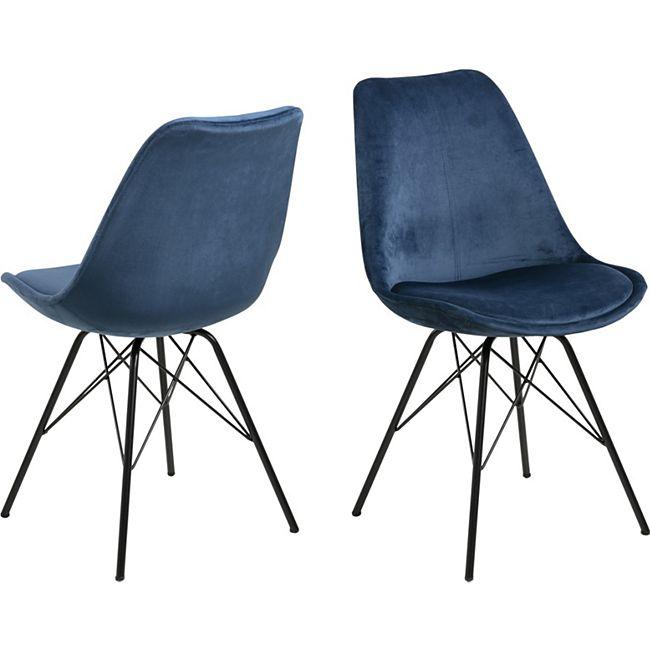 2x Erin Esszimmerstuhl blau Stuhl Set Esszimmer Stühle Küchenstuhl Küche Möbel - Bild 1