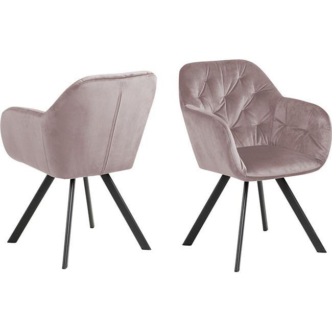 Lora Esszimmerstuhl Armlehne rosa Stuhl Set Esszimmer Stühle Küchenstuhl Küche - Bild 1