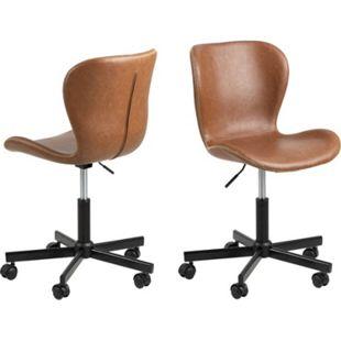 Bali Bürostuhl braun Computerstuhl Chefsessel Schreibtischstuhl Drehstuhl Sessel - Bild 1