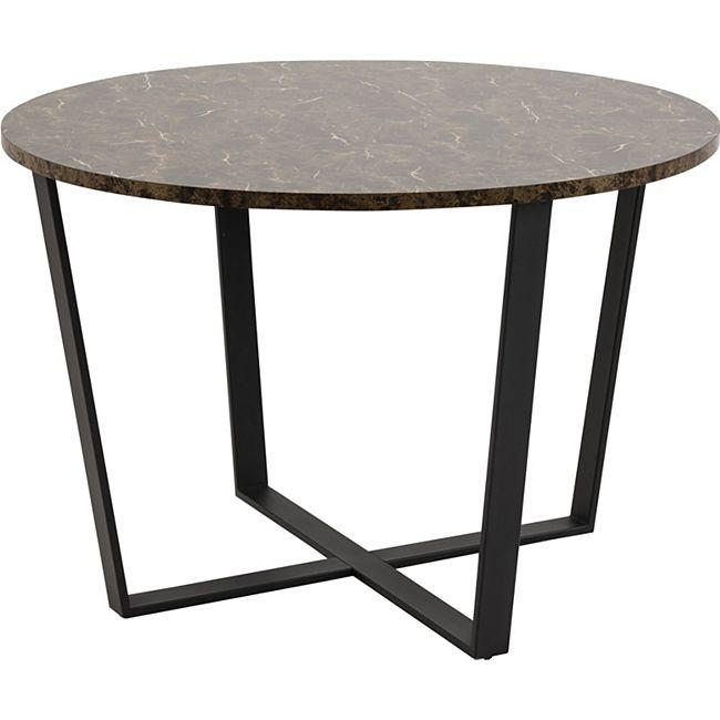 Amst Esstisch Marmor print braun Tisch Küchentisch Esszimmertisch Esszimmer - Bild 1