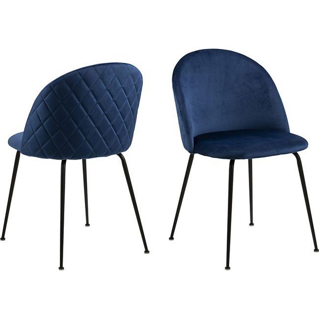 2x Lorry Esszimmerstuhl blau Stuhl Set Esszimmer Stühle Küchenstuhl Küche - Bild 1