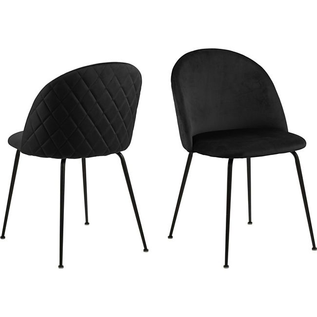 2x Lorry Esszimmerstuhl schwarz Stuhl Set Esszimmer Stühle Küchenstuhl Küche - Bild 1