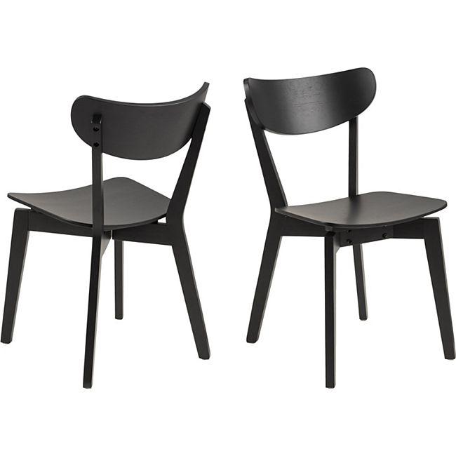 2x Roxana Holz Esszimmerstuhl schwarz Stuhl Esszimmer Holzstuhl Küchenstuhl - Bild 1