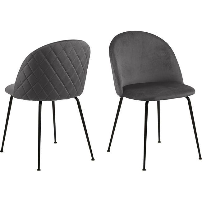 2x Lorry Esszimmerstuhl grau Stuhl Set Esszimmer Stühle Küchenstuhl Küche - Bild 1
