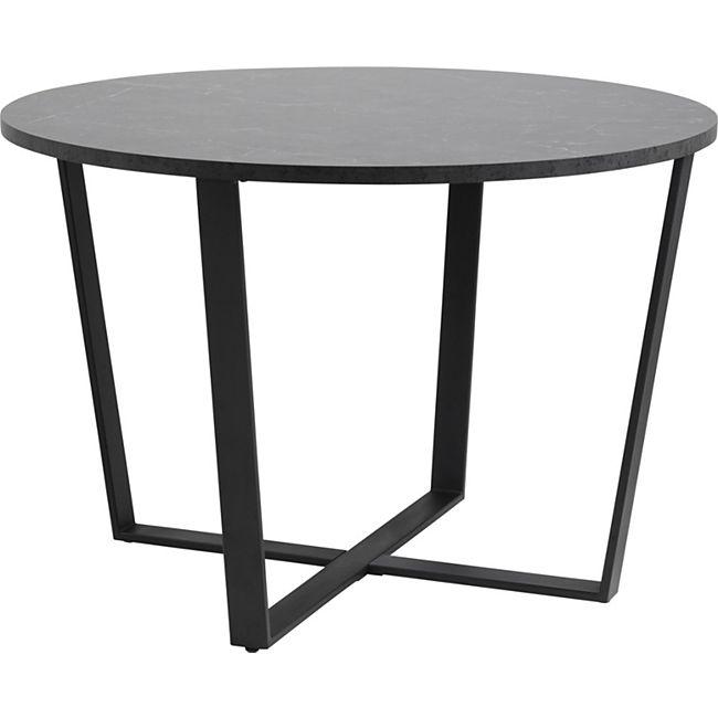 Amst Esstisch Marmor print schwarz Tisch Küchentisch Esszimmertisch Esszimmer - Bild 1