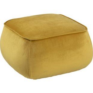 Mollar Pouf gelb 60cm Hocker Sitzpuff Sitzhocker Sitzpouf Bodenkissen Schemel - Bild 1