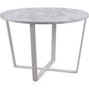 Amst Esstisch Marmor print weiss Tisch Küchentisch Esszimmertisch Esszimmer - Bild 1
