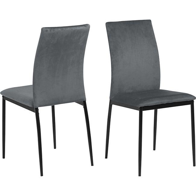 4x Des Esszimmerstuhl grau Stuhl Set Esszimmer Stühle Küchenstuhl Stuhlset - Bild 1