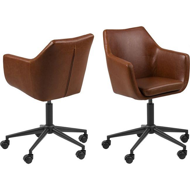 Noel Bürostuhl braun Computerstuhl Chefsessel Schreibtischstuhl Büro  Sessel - Bild 1