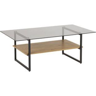 Okla Glas Couchtisch grau rauch Wohnzimmer Beistelltisch Tisch Sofatisch - Bild 1
