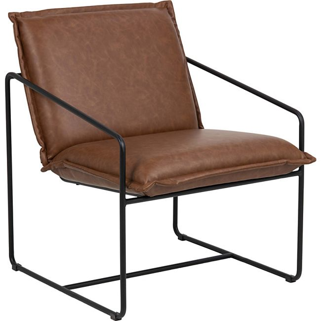 Shir Sessel braun Esszimmer Stuhl Wohnzimmer Clubsessel Cocktailsessel Lounge - Bild 1