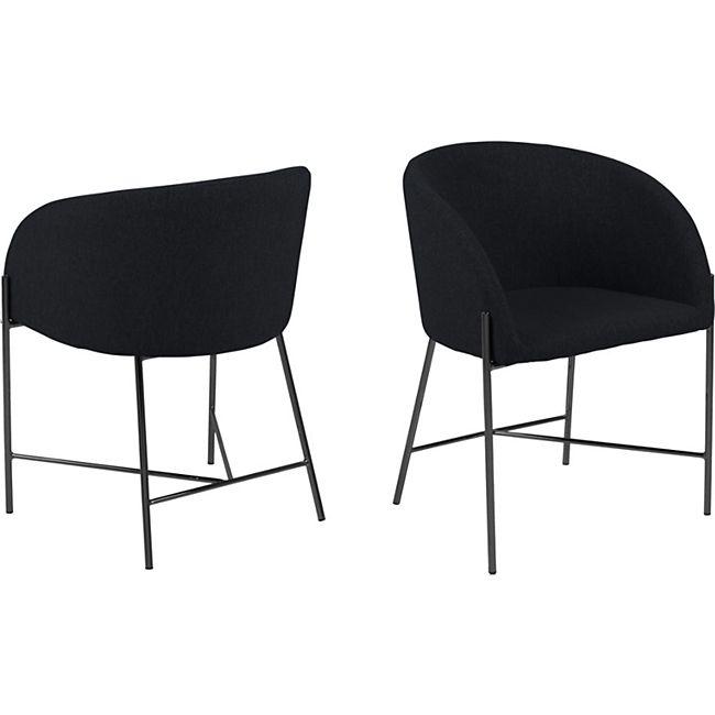 Neil Esszimmerstuhl Armlehne schwarz Stuhl Esszimmer Stühle Küchenstuhl Küche - Bild 1