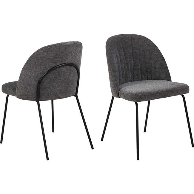 2x Scube Esszimmerstuhl grau Stuhl Set Esszimmer Stühle Küchenstuhl Küche - Bild 1