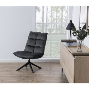 Stump Sessel grau Esszimmer Stuhl Wohnzimmer Clubsessel Cocktailsessel Lounge - Bild 1