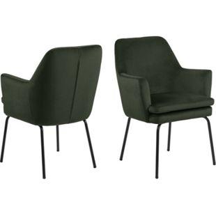 Chark Kunstleder Esszimmerstuhl grün Stuhl Sessel Esszimmer Möbel Wohnzimmer - Bild 1