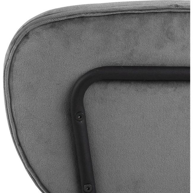 2x Arope Esszimmerstuhl grau Set Stuhl Küchenstuhl Polsterstuhl Küche Stühle - Bild 1