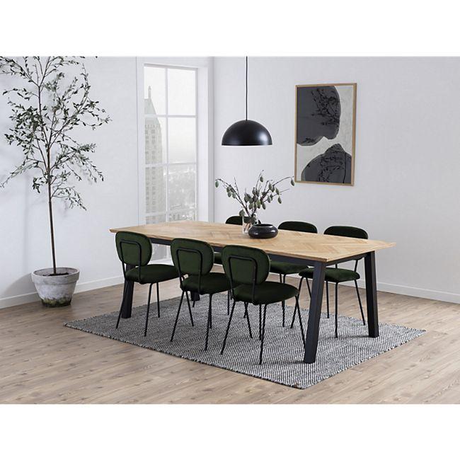 2x Arope Esszimmerstuhl grün Set Stuhl Küchenstuhl Polsterstuhl Küche Stühle - Bild 1