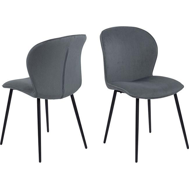 2x Every Esszimmerstuhl grau Stuhl Set Esszimmer Stühle Küchenstuhl Küche - Bild 1