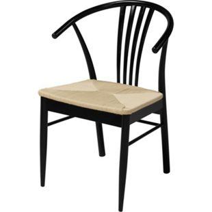 2x Yono Holz Esszimmerstuhl Stuhl Küche Sessel Esszimmer Wohnzimmer Küchenstuhl - Bild 1