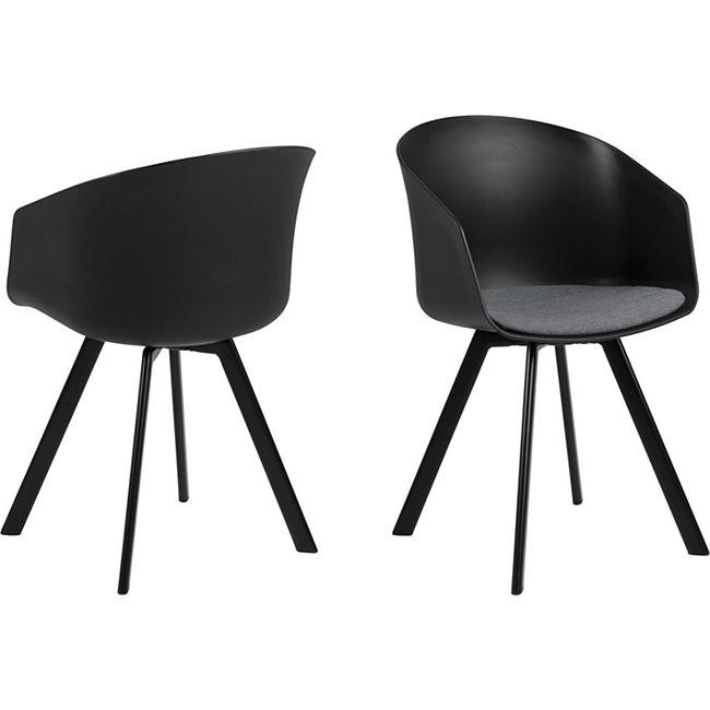 2x Momo Esszimmerstuhl grau Stuhl Set Esszimmer Stühle Möbel Küchenstuhl Möbel - Bild 1