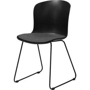 2x Stone Kunstleder Esszimmerstuhl grau Stuhl Sessel Esszimmer Wohnzimmer - Bild 1