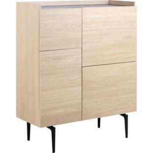 Coy Sideboard 4 Türen Eiche Furnier Kommode Schrank Anrichte Wohnzimmer Board - Bild 1