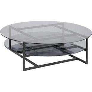 Lola Glas Couchtisch grau rauch Wohnzimmer Beistelltisch Tisch Sofatisch - Bild 1